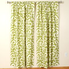 Lime Rod Pocket Curtain