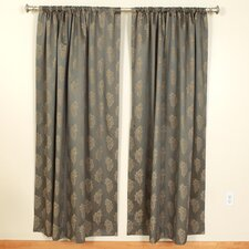 Leaves Rod Pocket Curtain Single Panel