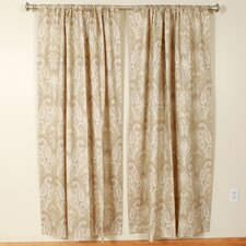 Cashmere Rod Pocket Curtain Single Panel