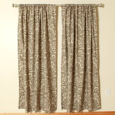 Netherlands Kelp Linen Rod Pocket Curtain Single Panel