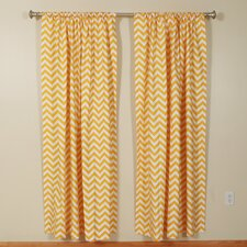 Zig Zag Corn Yellow Rod Pocket Curtain