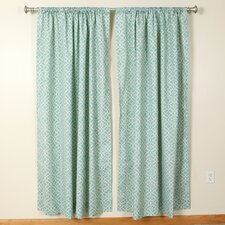 Geometric Pattern Rod Pocket Curtain Single Panel