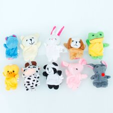 10 Finger Animal Puppet Set