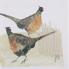 <strong>Artistic Britain</strong> Two Cock Pheasants by Julia Burns Wall Art
