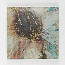 <strong>Artistic Britain</strong> Autumn Lotus Printed Glass Place Mat by Caroline Ashwood (Set of 4)