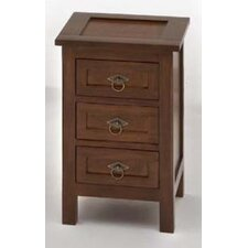 Marokko 3 Drawer Bedside Table
