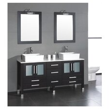 "<strong>Cambridge Plumbing</strong> Aspen 64"" Double Bathroom Vanity Set"
