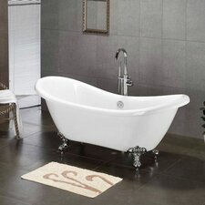 "68.62"" x 28.5"" Claw Foot Slipper Tub"