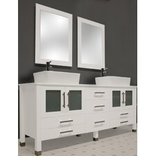 "White Emerald 65"" Vanity Set"