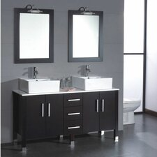 "Silkwood 58.75"" Double Bathroom Vanity Set"