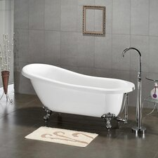 "61.75"" x 31"" Claw Foot Slipper Tub"
