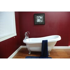 "68.25"" x 31"" Claw Foot Slipper Tub"