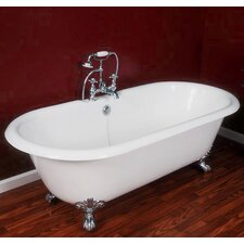 "<strong>Cambridge Plumbing</strong> 67.25"" x 22.25"" Double Ended Claw Foot Bathtub"