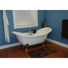 "70.75"" x 30.5"" Claw Foot Slipper Tub"