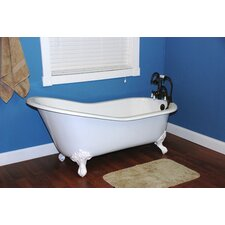 "60.5"" x 30.5"" Ball and Claw Foot Slipper Tub"