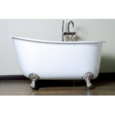 "57.5"" x 29.5"" Claw Foot Slipper Tub"