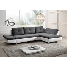 "2-er Sofa ""Comodita"" mit Longchair und Bettfuntion"