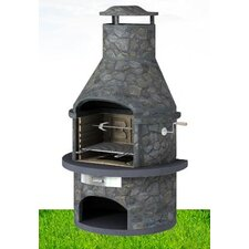 Rondo Masonary BBQ with Rotisserie in Dark Slate