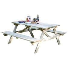 Rectangular Wooden Picnic Table