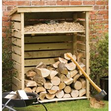 Small 3.8 ft W x 1.8 ft D Wood Log Storage Shed