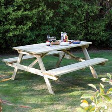 Rectangular Picnic Table and Bench
