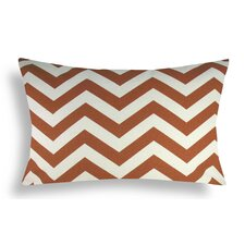 Chevron Cotton Lumbar Pillow