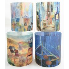 Jane Harlington Landscapes Tealight Holder 4 Piece Set