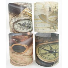 Nautical 1 Tealight Holder 4 Piece Set