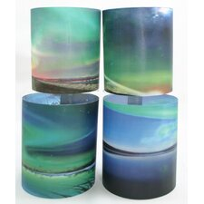 Northern Lights 3 Tealight Holder 4 Piece Set