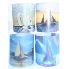 Sailing 1 Tealight Holder 4 Piece Set