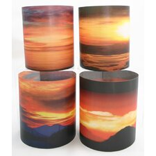 Sunrise 2 Tealight Holder 4 Piece Set