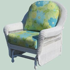 Grand Caymen Single Glider Chair with Yvonne Aloe Cushion