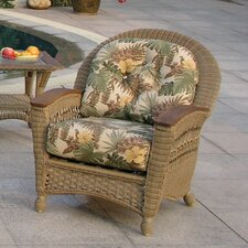<strong>Spice Islands Wicker</strong> Barbados Lounge Chair with Cushion