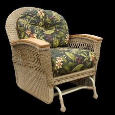 <strong>Spice Islands Wicker</strong> Barbados Single Glider Chair with Cushion