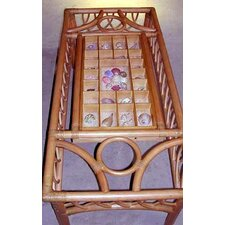 <strong>Spice Islands Wicker</strong> Montego Bay Coffee Table with Shells