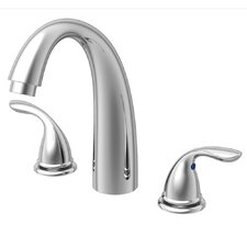 <strong>Aqueous Faucet</strong> Racine Single Handle Desk Mount Roman Tub Faucet Lever Handle
