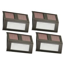 Solar Bronze Step Light (Set of 4)