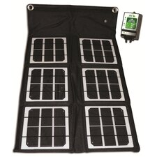 18-Watt Solar Folding Monocrystalline Solar Panel with Charge Controller