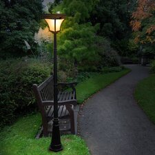"<strong>Nature Power</strong> Kona 88"" Solar Lamp Post in Black"