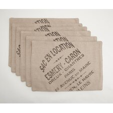 "<strong>Provence Home Collection</strong> ""French Words"" Placemats"