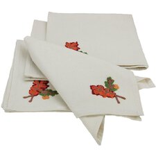 Harvest Vine Crewel Embroidered Harvest Square Napkin (Set of 4)