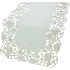 Daisy Lace Embroidered Cutwork Table Runner