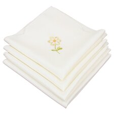 Spring Garden Embroidered Cutwork Napkin (Set of 4)