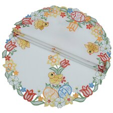 Spring Chicks Round Doily (Set of 4)