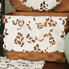 <strong>Xia Home Fashions</strong> Mariposa Embroidered Cutwork Traycloth (Set of 4)