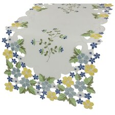 "Fancy Flowers 34""  x 16"" Table Runner"