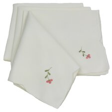 "Fancy Flowers 21"" x 21"" Napkin (Set of 4)"