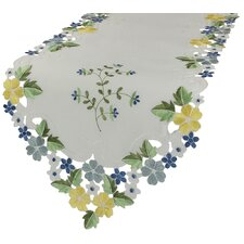 <strong>Xia Home Fashions</strong> Fancy Flowers Table Runner