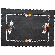 <strong>Xia Home Fashions</strong> Haunted House Embroidered Cutwork Placemat (Set of 4)