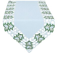 Tannenbaum Embroidered Cutwork Holiday Runner